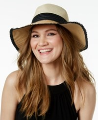 Inc International Concepts Colorblock Sun Hat Only At Macy's Natural Black