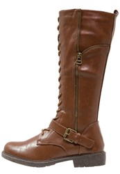 Anna Field Laceup Boots Cognac