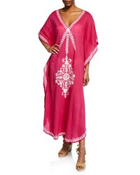 Flora Bella Saadi Cotton Voile Coverup With Embroidery Pink