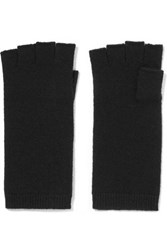 Madeleine Thompson Fingerless Cashmere Gloves Black
