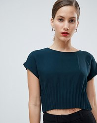 Native Youth Top With Gathered Waist Green