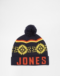 Jack And Jones Jack And Jones Bobble Beanie Blue