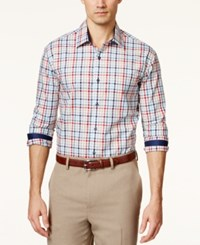 Tasso Elba Men's Fancy Multi Checked Long Sleeve Shirt Only At Macy's