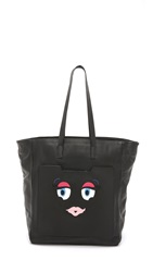 Kara Ross Smirk Tote Black