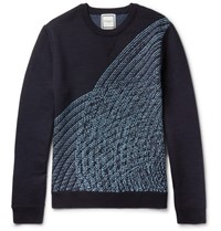 Wooyoungmi Knitted Wool Sweater Navy