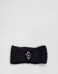 Boardwalk Boardmans Knitted Headband With Jewel Navy