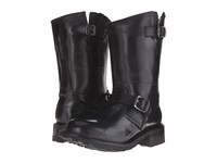 Frye Arkansas Rubber Engineer Black Recycled Rubber Shearling Lined Men's Pull On Boots
