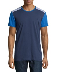 Sovereign Code Colorblock Mesh Trim Jersey Tee Blue