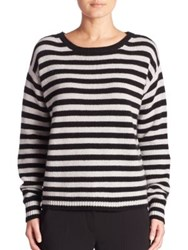 Max Mara Sevres Striped Cashmere Sweater Light Grey