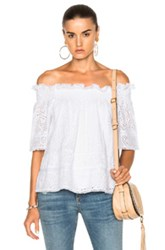 Needle And Thread Off The Shoulder Top In White