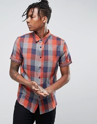 Another Influence Check Shirt Orange