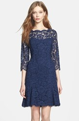 Women's Eliza J Lace Tulip Dress Navy