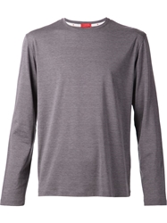 Isaia Long Sleeved T Shirt Grey