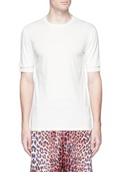 3.1 Phillip Lim Double Sleeve Cotton Jersey T Shirt White