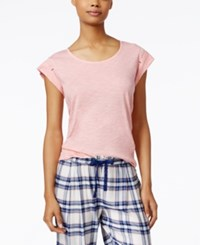 Tommy Hilfiger Short Sleeve Pajama Top Pink Icing