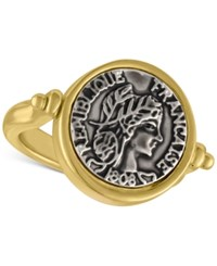 Rachel Roy Two Tone Coin Ring Gold