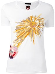 Alexander Mcqueen Sequinned T Shirt White