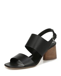 Via Spiga Libby Block Heel Sandals Black