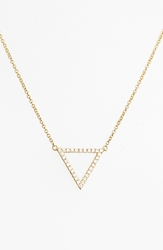 Bony Levy 'Prism' Diamond Small Triangle Pendant Necklace Nordstrom Exclusive Yellow Gold