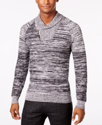 Inc International Concepts Men's Nickelby Marled Shawl Collar Sweater Only At Macy's Deep Black