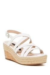 French Connection Liya Strappy Wedge Sandal White