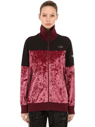The North Face City Velvet Track Jacket Red
