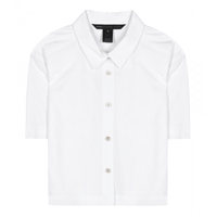 Marc By Marc Jacobs Button Up Cropped Cotton Shirt White