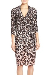 Women's Maggy London Leopard Print Wrap Dress Blush Leopard Print