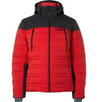Colmar Chamionix Quilted Down Ski Jacket Red