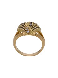 Venyx Lady V Ring Diamond 18Kt Gold Black Rhodium Metallic