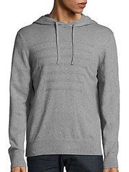 Saks Fifth Avenue Red Cotton And Cashmere Heathered Hoodie Heather Grey