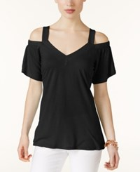 Inc International Concepts Off The Shoulder T Shirt Only At Macy's Deep Black