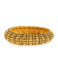 Textured Hinged Bangle Bracelet Gold Jose And Maria Barrera
