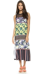 Clover Canyon Floral Collage Jersey Dress Yellow