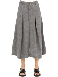Transit Wide Leg Cotton Hounds Tooth Pants