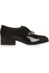 3.1 Phillip Lim Berlin Chain Embellished Patent Leather And Suede Loafers