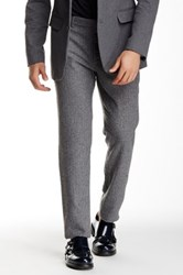 Shades Of Grey Woolen Suit Pant Gray