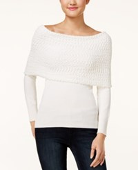 Xoxo Juniors' Off The Shoulder Sweater Ivory