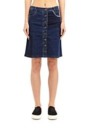 Preen Line Penelope Denim Skirt Blue