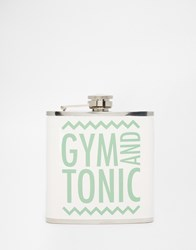 Paperchase Gym And Tonic Hip Flask Multi