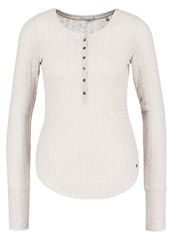 Abercrombie And Fitch Cozy Jumper Oatmeal Mottled Light Grey