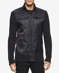 Calvin Klein Men's Cargo Full Zip 3Gg Sweater Black