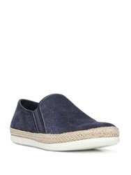 Vince Acker Suede Espadrille Skate Sneakers Deep Blue Light Woodsmoke