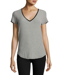 Paige Lynnea Striped Tee Black Pattern