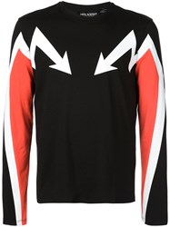 Neil Barrett Arrow Print Sweater Black