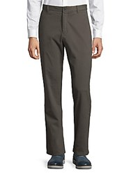 Zachary Prell Slim Fit Straight Leg Trousers Navy