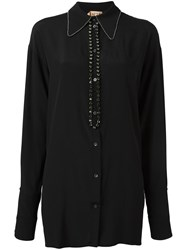 N 21 No21 Embellished Button Down Shirt Black