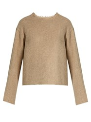 Simon Miller Ames Raw Edge Alpaca Sweater Beige