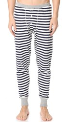 Sleepy Jones Keith Rugby Stripe Long Johns Navy