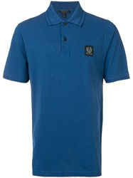 Belstaff Logo Patch Polo Shirt Blue